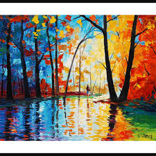 popular items for palette knife tree on oriiginal oil painting trees wall decor by listed