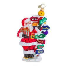 Christopher Radko All Around the World Santa Travel Christmas Ornament  (retired)