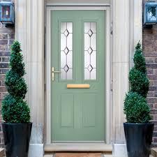 Image Victorian Chatsworth Composite External Door Shown In Chartwell Green Bevel Diamond Glass Direct Doors Chatsworth Composite External Door Shown In Chartwell Green Bevel