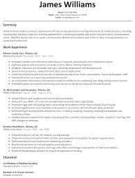Resume Format For Medical Job Medical Assistant Resume Sample Free Resumes Tips 22