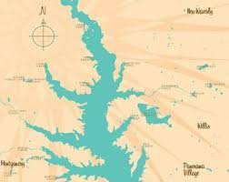 Lake Conroe Nautical Chart Lake Conroe Map Etsy