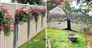 backyard wooden fence decorating ideas adorable outdoor