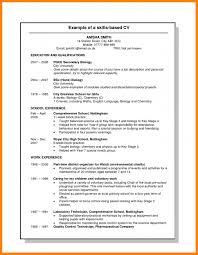 Skills Based Resume Template Word Microsoft Cv Templates Stock
