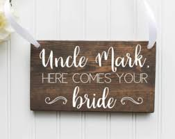 rustic wedding decor etsy Wedding Decorations Etsy here comes the bride wooden sign ring bearer sign flower girl rustic wedding etsy rustic wedding decorations