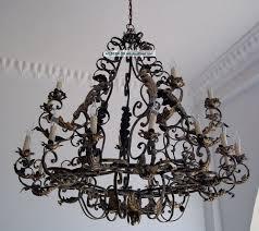 huge wrought iron rustic chandelier lights chandeliers watch more like idyllic