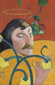 self portrait with halo and snake artist paul gauguin