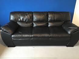 black leather sofas rarely used in good condition