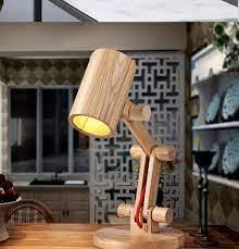 Đèn để bàn bằng gỗ Vango dùng đọc sách phòng ngủ bàn học sinh viên học sinh  phong cách Bắc Âu VG09