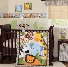 crib bedding set jungle zoo animals