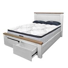 queen bed side view. Harlow Bed Frame With Drawer Footboard Queen Side View O
