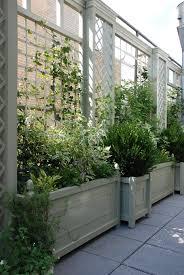 treillage and planters terrace and balconies brilliant ideas of trellis planter garden screen
