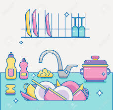 dishes in sink clipart. Perfect Dishes Dishes Clipart Kitchen Dish Intended Dishes In Sink Clipart