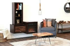 Woodwaves Wall Mounted Floating Fireplace TV Stand  ECO GEO Floating Fireplace