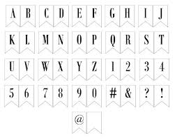 Free Printable Banner Letters Includes Entire Alphabet