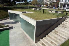public toilet design architecture. green-roofed public restroom facility in argentina offers amazing river views toilet design architecture c