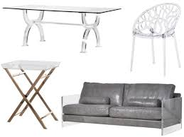 perspex furniture. Clear Acrylic Contemporary Furniture Collection - Perspex I