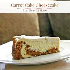 Carrot Cake Cheesecake Recipes Food And Cooking