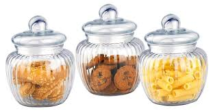 retro glass cookie jars