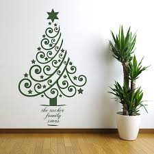 Christmas Tree  UBer Decals Wall Decal Vinyl Decor Art Sticker Christmas Tree Decals