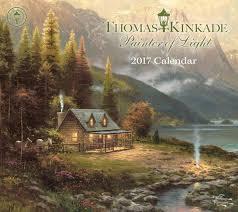 thomas kinkade painter of light 2017 deluxe wall calendar thomas kinkade 9781449476151 com books