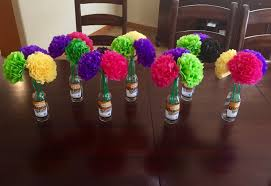 tissue paper flower centerpiece ideas tissue paper flower centerpieces mexican family reunion family