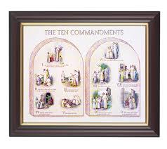 the ten commandments in walnut frame 10 25x12 25 8x10 print