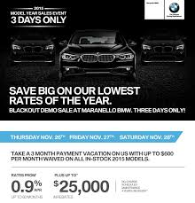 Bmw Blackout Demo Sale November 2015 Maranello_bmw