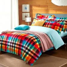 small size of preppy style colorful green red check plaid bedding set quilt cover flat sheet