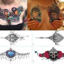 Nová Evropa A Spojené Státy Móda Sexy Tattoo Vložte Hrudník Tetování Samolepka Barva Zelená Tattoo Samolepky At Vova
