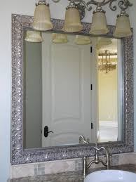 Bathroom Framed Mirrors How To Frame Bathroom Mirror Easy Diy For Renters Trim A Giant