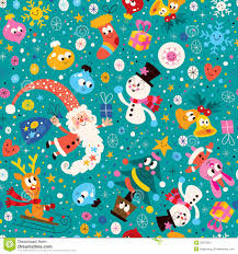 Merry Christmas And Happy New Year Pattern Stock Image - Image ...