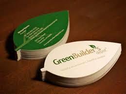 Green Builders Depot A Leaf Shaped Die Cut Card For Green Builders