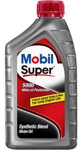 Synthetic Blend Oil Comparison Chart Mobil Super Motor Oil Mobil Motor Oils