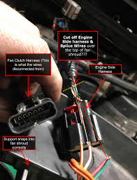 fan clutch wiring fix pulled out of harness ford powerstroke click image for larger version fan clutch wiring this would work right