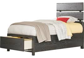 Midcity Loft Carbon 3 Pc Twin Slat Bed with Storage - Twin Beds Colors