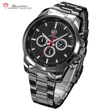 aliexpress com buy shark sport watch 6 hands stainless steel aliexpress com buy shark sport watch 6 hands stainless steel carbon fiber dial date men s outdoor military quartz racing fashion wristwatch sh020 from