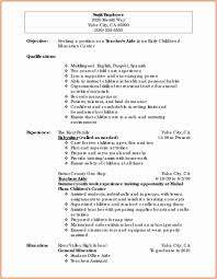 Day Care Experience On Resume Sample Resume For Teacher With Experience Valid Daycare Resume