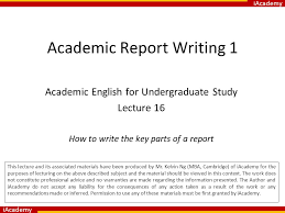 academic report co academic report