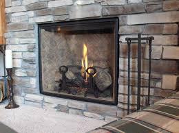 nice fireplace glass doors the wooden houses