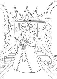 Walt Disney Coloring Pages Princess Ariel Kleurplaat Aerial