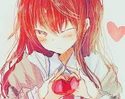 """Résultat de recherche d'images pour """"fille rose coeur manga"""""""