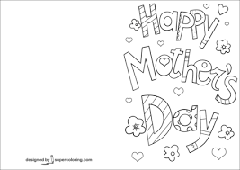 Disegno Di Biglietto Ti Amo Per La Festa Della Mamma Da Colorare