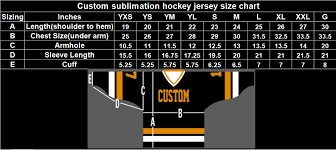 55 Unusual Size Chart For Hockey Jerseys