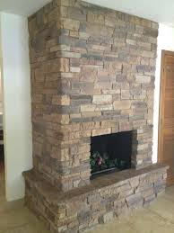 fireplace firebox masonry style natural stone stack for wall covering modern fireplace firebox design idea for