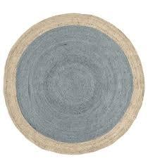 west elm bordered round jute