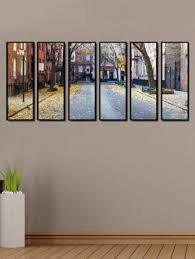 multiple picture frames. Printed Multiple Framed City Scape Art Panels Wall Painting- 6 Frames Picture