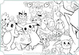 Pokemon Coloring Pages Pdf Pokemon Coloring Pages Color Sheets Preschool For Funny Coloring