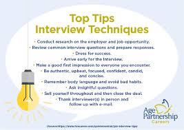 Quintessential Careers Interview Questions Top Tips Interview Techniques Age Partnership Careers