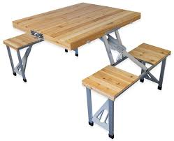 andes folding wooden camping table