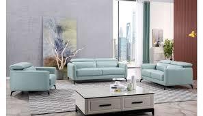 holborn teal leather sofa